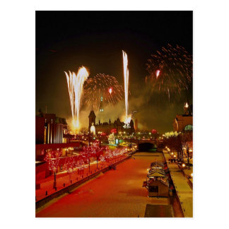Unique New Year's Eve, Ottawa, Ontario, Canada Postcard