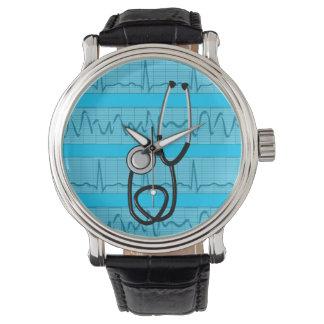Unique Nurse Watch EKG Strips Design