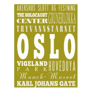 Unique Oslo, Norway Gift Idea Postcard