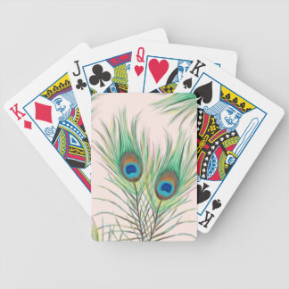 Unique Peacock Feathers Pattern Bicycle Playing Cards