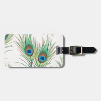 Unique Peacock Feathers Pattern Luggage Tag