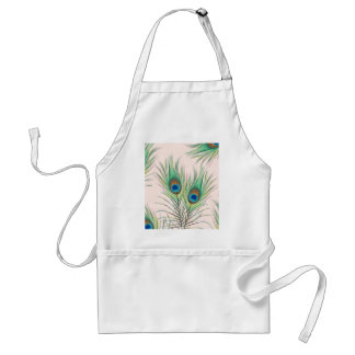 Unique Peacock Feathers Pattern Standard Apron