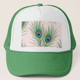 Unique Peacock Feathers Pattern Trucker Hat