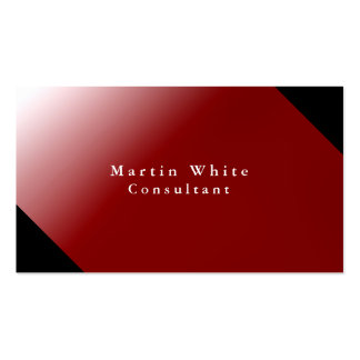 Unique Personal Black Red Professional Modern Business Card