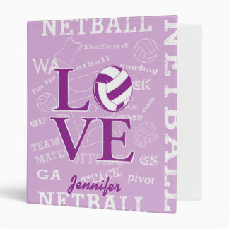 Unique Personalised Netball 3 Ring Binders