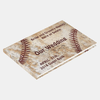 Unique Personalized Baseball Wedding  Guest Book