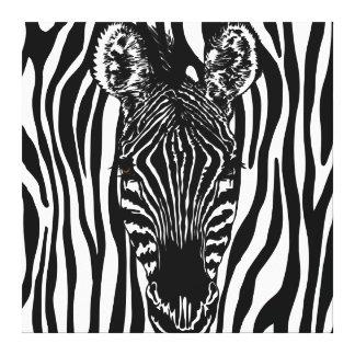 Unique Perspective Zebra Canvas Print