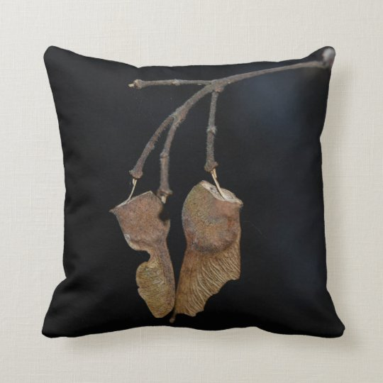 Unique pillow featuring Sycamore Tree seeds