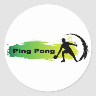Unique Ping Pong Classic Round Sticker