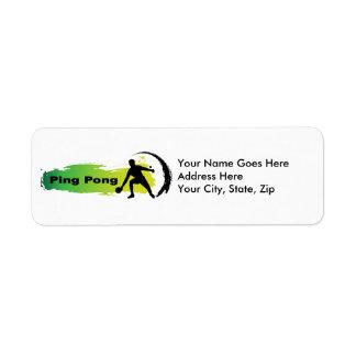 Unique Ping Pong Return Address Label