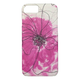 Unique pink abstract flower iPhone 8/7 case