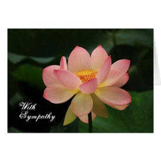Unique Pink Lotus Floral Buddhist Sympathy Card