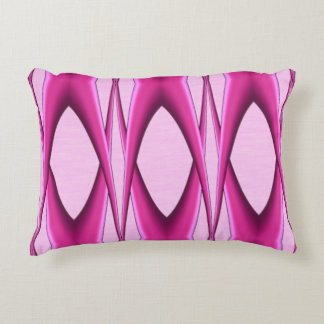 Unique Pink Pattern Accent Pillow