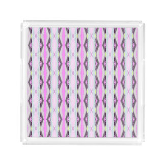 Unique Pink Pattern Acrylic Tray