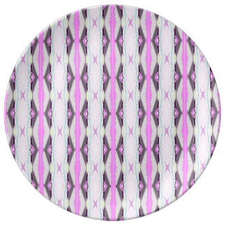 Unique Pink Pattern Plate