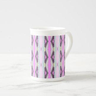 Unique Pink Pattern Tea Cup