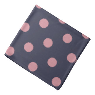 Unique Pink Polka Dot Bandana