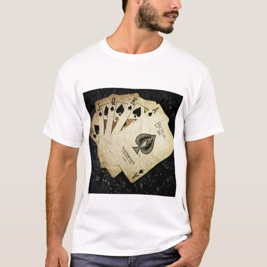 Unique playing card desined Men's t-shirt