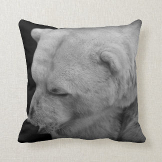 Unique Polar Bear Photo with Facts Throw Pillow