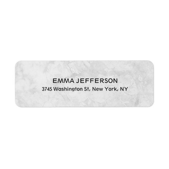 Unique Professional Trendy Grey Feminine Return Address Label