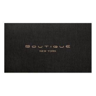 Unique professionnel de toile de boutique de noir carte de visite standard