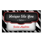 "Unique ""Puffy"" Zebra Print Appointment Cards Business Card"