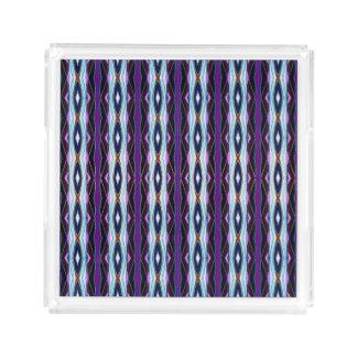 Unique Purple Pattern Acrylic Tray