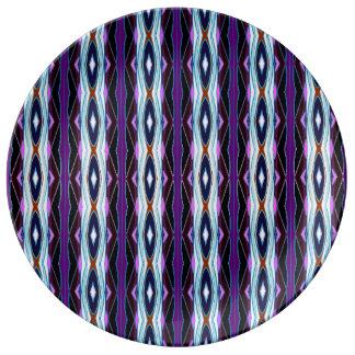 Unique Purple Pattern Plate