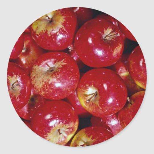 Unique Red apples Classic Round Sticker