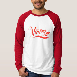 Unique Red Vintage Long sleeve Cool T-Shirt