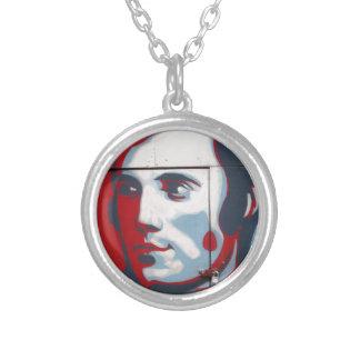 Unique Robert Burns Street Art! Silver Plated Necklace
