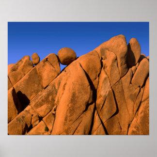 Unique rock formation, California Poster