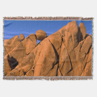 Unique rock formation, California Throw Blanket