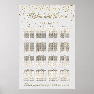 Unique Royal Gold Foil Wedding Seating Chart