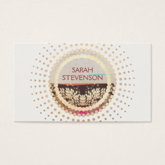 Unique Rustic Country Gold Sun Business Card