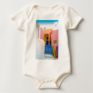 Unique Santorini architecture Baby Bodysuit