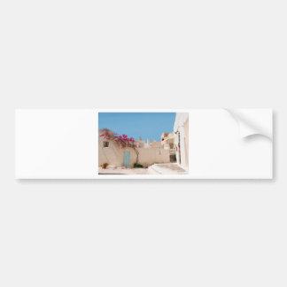Unique Santorini architecture Bumper Sticker