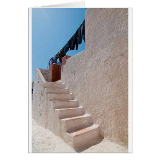 Unique Santorini architecture Card