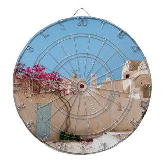 Unique Santorini architecture Dartboard
