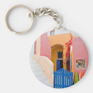 Unique Santorini architecture Keychain