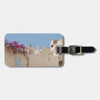Unique Santorini architecture Luggage Tag