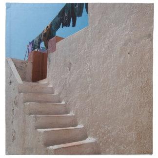 Unique Santorini architecture Napkin
