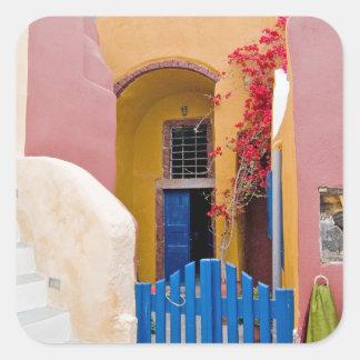Unique Santorini architecture Square Sticker