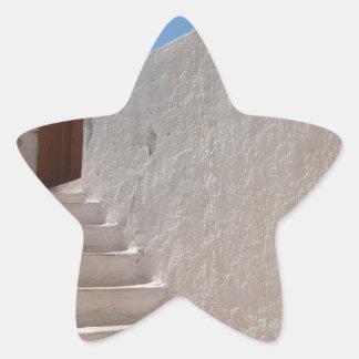 Unique Santorini architecture Star Sticker