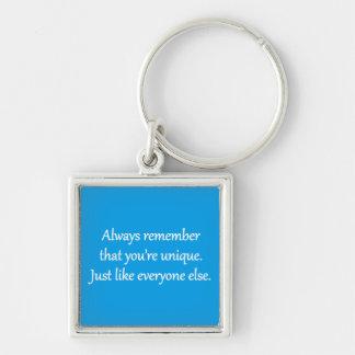 Unique - Sarcastic Zen Phrase Keychain