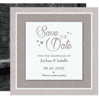 Unique Save the Date Invitation