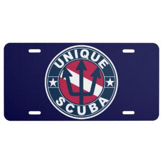 Unique Scuba License Plate