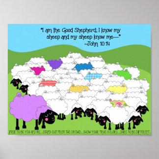 Unique Sheep Good Shepherd Poster