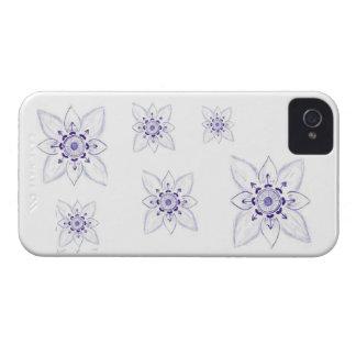 Unique  Sketch  Flower, blackberry case