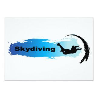 """Unique Skydiving 5"""" X 7"""" Invitation Card"""
